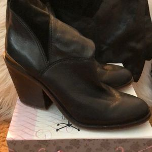 Lucky Brand tall leather and suede boots